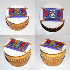 Aladdin cupcakes3 Aladdin Cake, Aladdin Party, Disney Cupcakes, Aladdin And Jasmine, Sweets, Baking, Desserts, Recipes, Cake Ideas