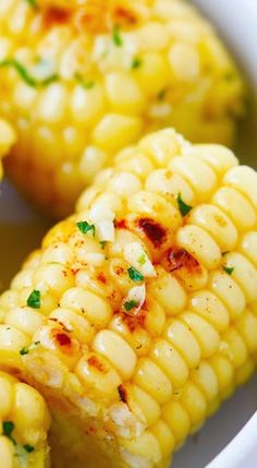 Garlic-Herb Butter Roasted Corn.