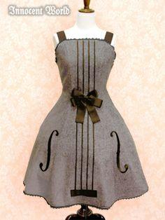 innocent world バイオリンジャンパースカート