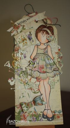 Birthday Wishes Doll Stamp Tag by SAZCreations - Cards and Paper Crafts at Splitcoaststampers