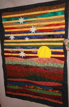 Seen in Quiltville-  someone made for a soldier in Afghanistan-