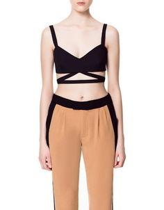 ZARA//STUDIO BANDEAU WITH STRAPS