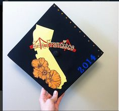 because i never could find any CA themed graduation caps in my search, here's mine #california #graduation #2014