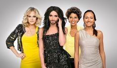 """The winner of Eurovision 2015 is Sweden. Conchita Wurst, was the host of the green room in Vienna Sweden's Mans Zelmerlow's song """"Heroes"""". Eurovision Song Contest, Prom Dresses, Formal Dresses, Crossdressers, Finals, Hot, Songs"""