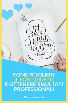 Come utilizzare i font in modo corretto, sceglierli e combinarli tra loro per avere risultati davvero pro! #grafica #graphicdesign #font #layout Creative People, Creative Words, Brochure Layout, Flyer Design, Identity, Typography, Graphic Design, Marketing, Letterpress