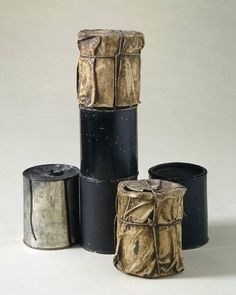 Christo started out small, wrapping cans and bottles in as the Pop movement and conceptual environmental art were in their infancy Jean Tinguely, Yves Klein, Christo Y Jeanne Claude, Nouveau Realisme, Bokashi, Art Terms, A Level Art, Environmental Art, Everyday Objects