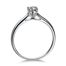 V Shape Anillo de Compromiso Solitario 925 Brilliant Cut Simulado Diamond…