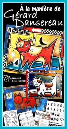 In the Style of Gérard Dansereau - Art Lesson Plan Art Activities For Kids, Art For Kids, Klimt, Splat Le Chat, Ecole Art, Art Lessons Elementary, Art Lesson Plans, Halloween Art, Summer Art