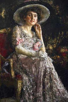 Geltrude, Antonio Mancini, 1910, pittura, olio su tela (Museo Revoltella)   #TuscanyAgriturismoGiratola