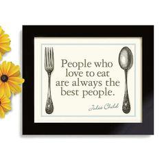 Julia Child Kitchen Art Print Kitchen Decor Cooking Quote Art Print
