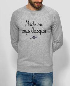 Sweat Homme Made in Pays Basque Gris by Le Terroir x Monsieur TSHIRT