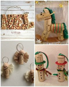 You will love these wine cork christmas crafts and we have a number of super easy projects including trees, wreaths and reindeers to try. Christmas Tree Card Holder, Cork Christmas Trees, Christmas Crafts For Kids, Diy Christmas Ornaments, Holiday Crafts, Christmas Decorations, Snowflake Ornaments, Christmas Cactus, Summer Crafts