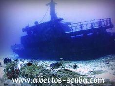 Wreck dive in Playa del Carmem
