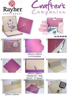 Mines Michaelsen / Glinder Bastelkreis :: NEU: 12-Projects-Ultimate-Pro :: Cake_Easel_Envelobox_1_Anleitung