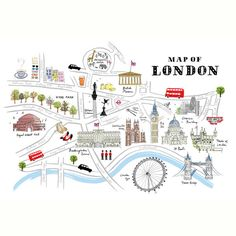 Map of London Print - Alice Tait Shop