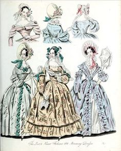 The World of Fashion and Continental Feuilletons 1838 Plate 36 by CharmaineZoe, via Flickr