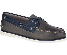 Sperry Men's Gold Cup Authentic Original 2-Eye Roustabout Boat Shoe, Grey