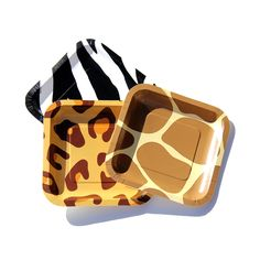 Giraffe Print Party Paper Plates | Animal print party