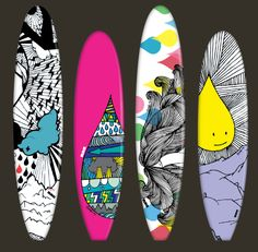 Surfboard Designs for INLAYZ- available to buy via their online Candy Store: