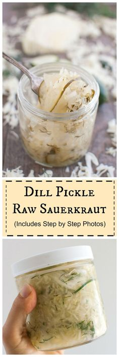 Dill Pickle Raw Sauerkraut- improve your gut heal #probiotic #vegan #paleo… >>> >>> >>> >>> We love this at Digestive Hope headquarters digestivehope.com