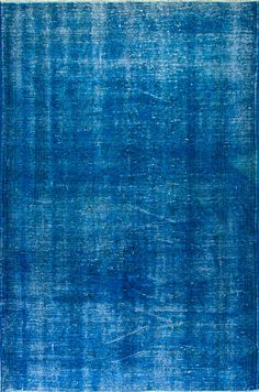 5.1x7.7 Ft indigo Blue color Overdyed vintage Rug by SplendidRugs