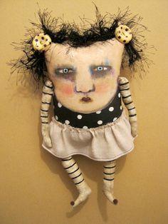 weird monster doll art doll monster original by sandymastroni