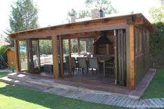 Imagen relacionada Barbacoa, Glass Porch, Gazebo, Pergola, Shed, Exterior, Outdoor Structures, Patio, Google Search