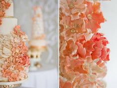 Image result for peach lemon gold wedding