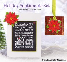 Holiday Sentiments Set from the Winter 2015 issue of CardMaker Magazine. Order a digital copy here: https://www.anniescatalog.com/detail.html?prod_id=127955