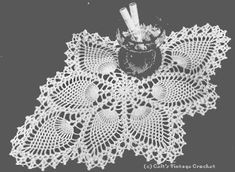 Pineapple Doily No. 7714 . . . free vintage pattern spool arts cotton