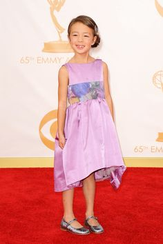 #Emmys Awards 2013: Red Carpet Arrival Photos< Too adorable right down to the sparkling shoes.