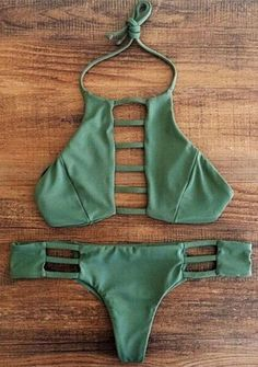 Halter Hollow Out Bikini