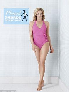 Forty and fabulous! Gabby Logan shows off her slim figure in a swimsuit and reveals she'd love to see David Beckham on Splash! Gabby Logan, Sports Presenters, Uk Tv, David Beckham, Celebs, Celebrities, Swimsuits, Swimwear, Bikini Bodies