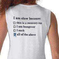 funny running shirt!
