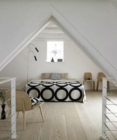 attic bedroom.... I love attics renovated into master bedrooms