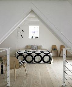 attic bedroom.... I love attics renovated into master bedrooms