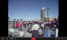 I spent this Shabbat with a friend in Bat Yam, a city on the coast south of Tel Aviv. We came across a group of people dancing Israeli Folk Dances. Click to see the dancing.