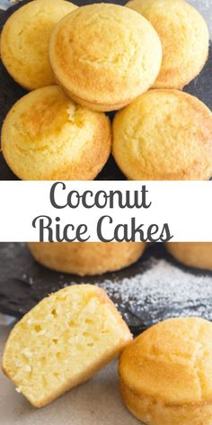 Sweet Rice Flour Recipe, Rice Flour Recipes, Rice Cake Recipes, Coconut Milk Recipes, Coconut Rice, Coconut Flour, Baking Recipes, Rice Cake Snacks, Uses For Coconut Milk