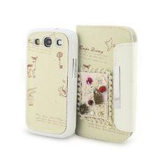 91c3146a9ab Amazon.com: BONAMART ® Hybrid 3D Handicraft Wallet Book PU Leather Cover  Case Card Slot F Samsung Galaxy S3 SIII S 3 III I9300: Cell Phones &  Accessories