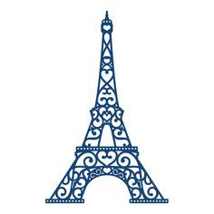 Tattered Lace - Dies - Eiffel Tower - use to paint the silhouette for a pink and black Paris room Paris Tattoo, Paris Party, Paris Theme, Eiffel Tower Tattoo, 3d Pen, Thinking Day, Silhouette Cameo Projects, Kirigami, Embroidery Patterns