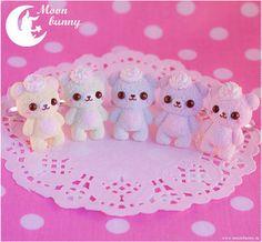 Pastel Ice Cream Bear Rings by CuteMoonBunny on Etsy