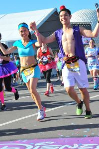runDisney Princess Half Marathon - Jasmine and Aladdin running costumes