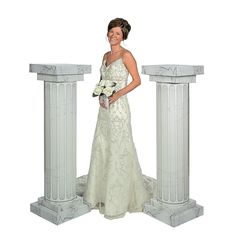 Marble-Look Fluted Columns - 4 1/2 ft. - OrientalTrading.com