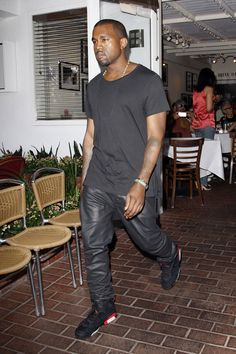 Kanye West wearing Air Jordan VI 6 Infrared