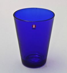 Cobalt blue, big drinking glass, Kartio. Design, Kaj Franck, Iittala Shopping Places, Drinking Glass, Old Antiques, Cobalt Blue, Finland, Shot Glass, Big, Tableware, Design