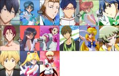 """"""" Oh, when I'm surfing on facebook then I found this… Yeah the swimmer has become one with that magical girl. """""""