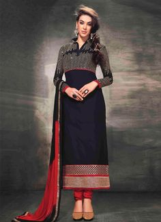 Visit at:- http://www.sareebuzz.com/salwar-kameez/invigorating-georgette-black-zari-work-churidar-suit-3487  Invigorating Georgette Black Zari Work Churidar Suit  Color : Black  Occasion : Festival Reception Fabric : Pure Georgette  Work : Resham Zari  ITEM CODE: 3487  For Inquiry Or Any Query Related To Product, Contact :- +91 9974 111 222