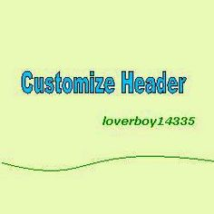 how to customize header in blogger