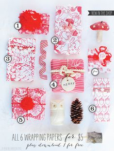 Day 8: Free Printable Christmas Wrapping Paper   Muffin Grayson