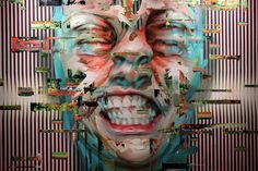 Justin Bower- Vivisection 1, 2012 Oil on canvas Munsell Complements- Red - Blue/Green